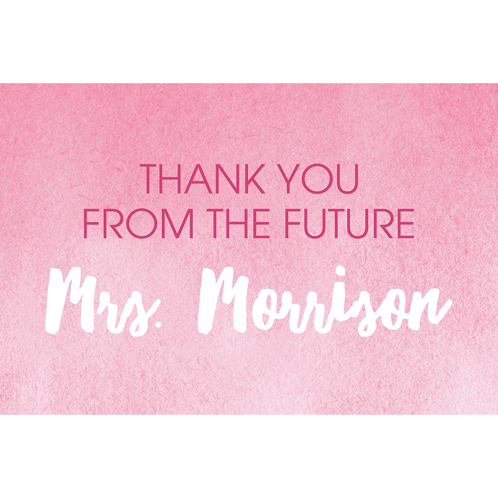 Custom Pink Shower the Bride Thank You Notes Image #1