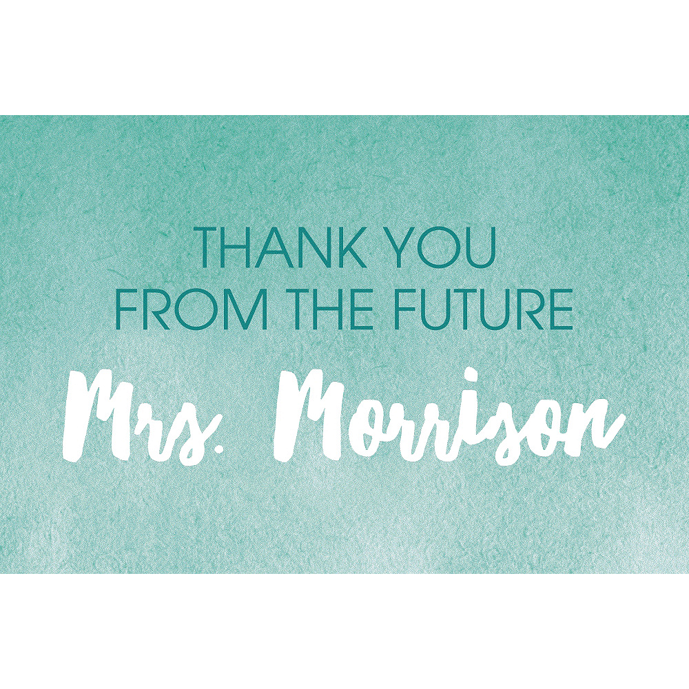 Custom Mint Shower the Bride Thank You Notes Image #1