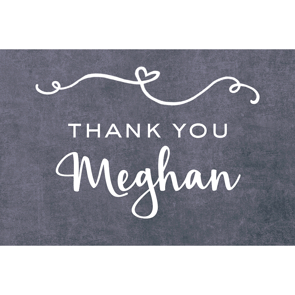 Custom Scripty Bridal Shower Thank You Notes Image #1