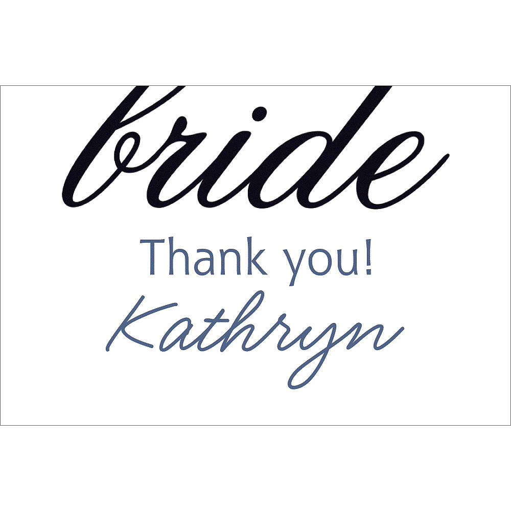 Custom Onyx Here Comes the Bride Thank You Notes Image #1