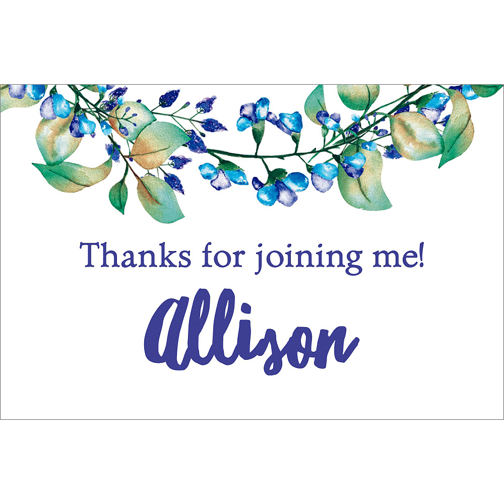 Custom Floral Wreath Shower the Bride Thank You Notes Image #1