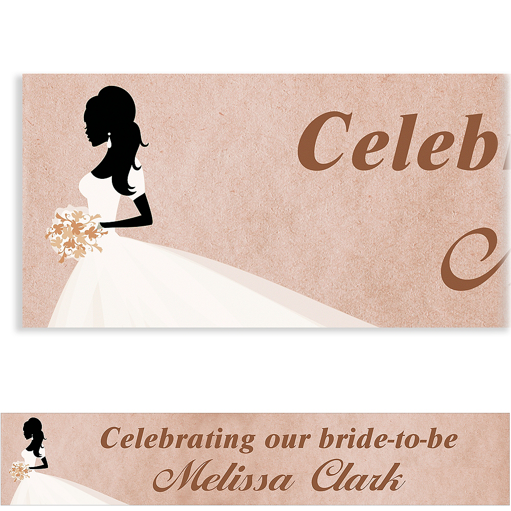 Custom Bride Silhouette with Train Banner Image #1