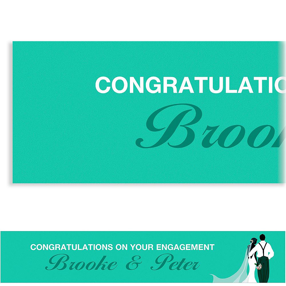 Custom Mint Wedding Couple Silhouette Banner Image #1