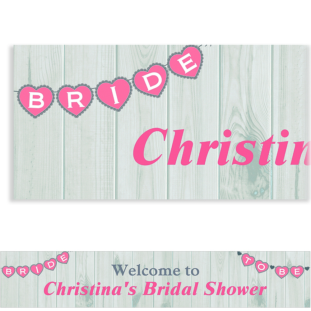 Custom Bride to Be Pennant Banner Image #1