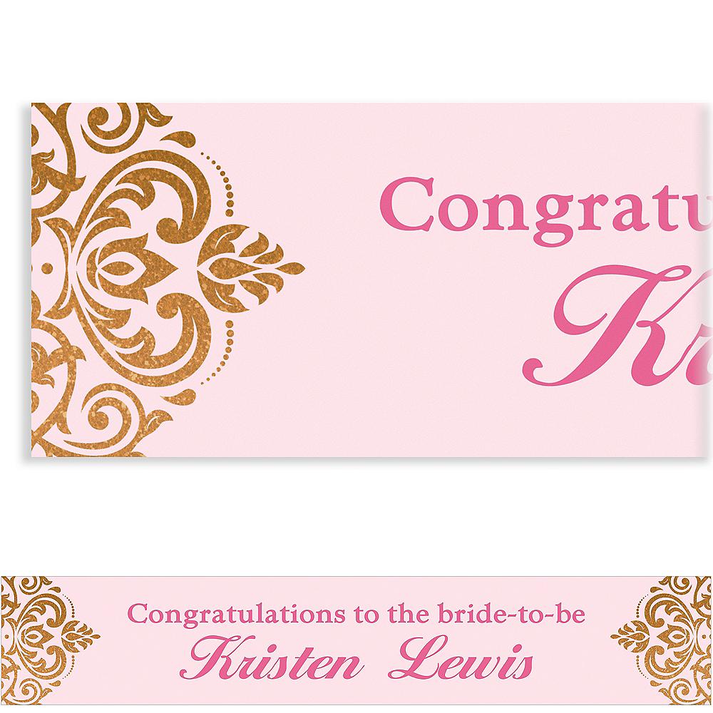 Custom Pink Golden Filigree Banner Image #1