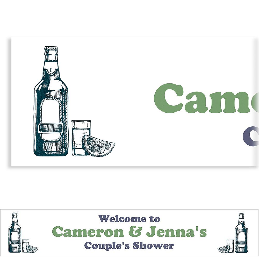 Custom Stock the Bar Couple's Shower Banner Image #1