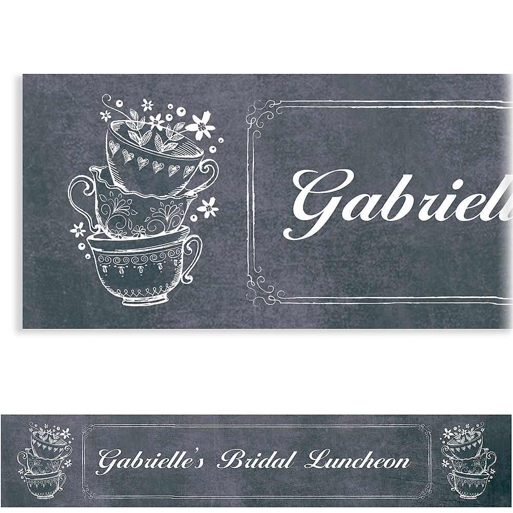 Custom Bridal Tea Party Banner Image #1