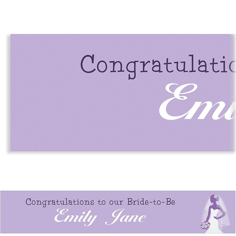 Custom Lavender Bride Silhouette Banner Image #1
