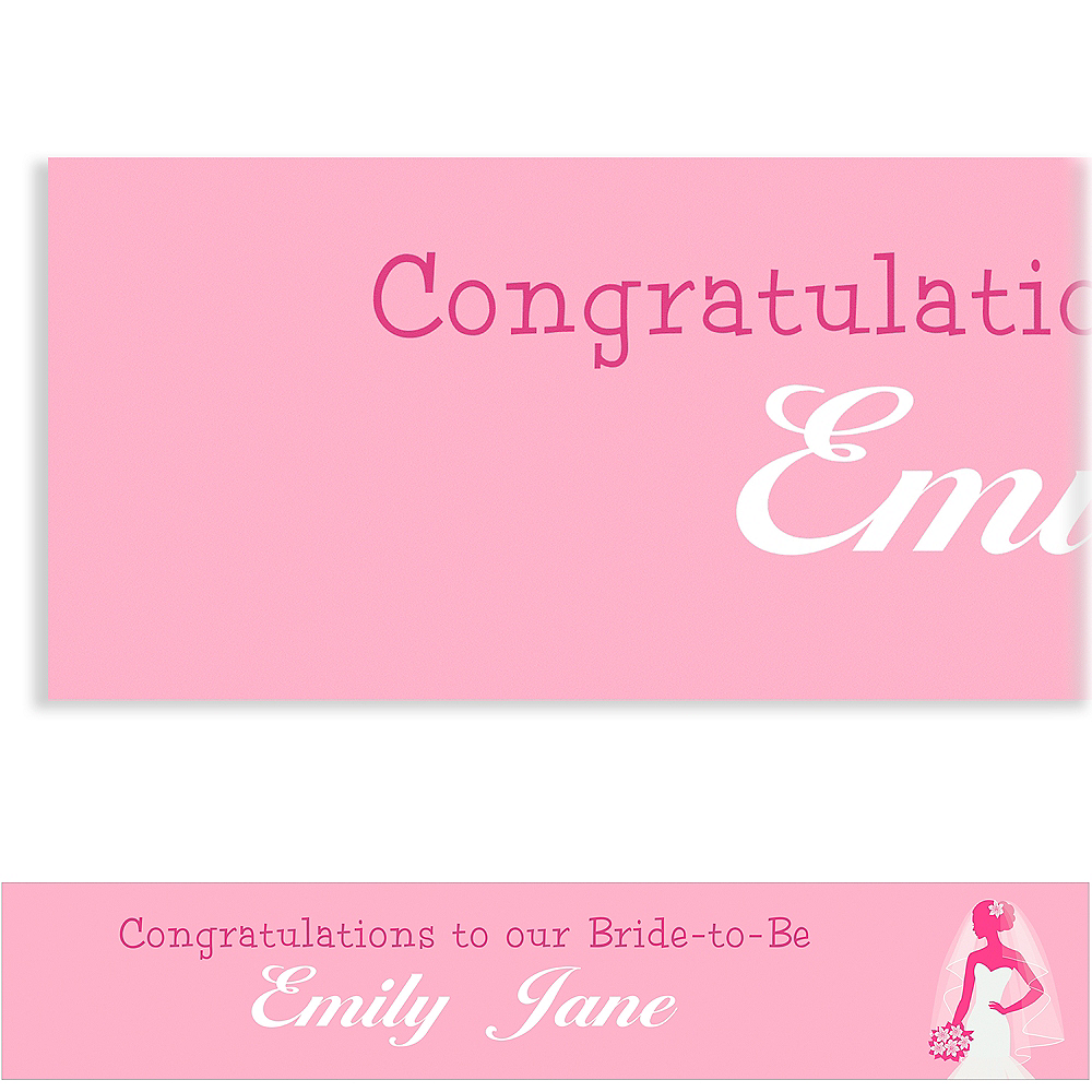 Nav Item for Custom Pink Bride Silhouette Banner Image #1