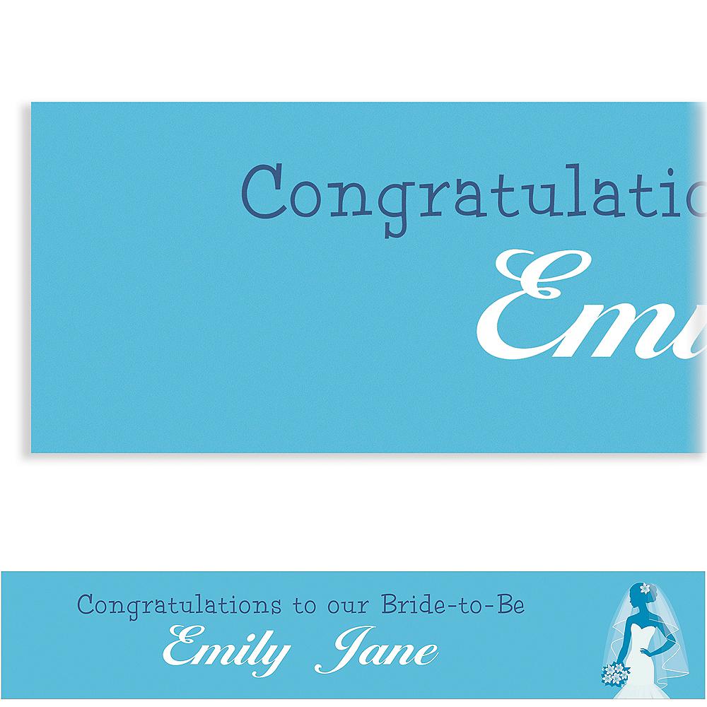 Custom Blue Bride Silhouette Banner Image #1