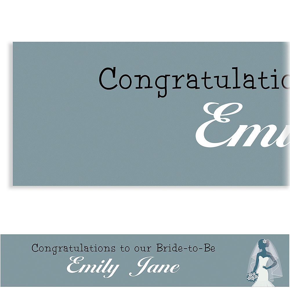 Custom Silver Bride Silhouette Banner Image #1