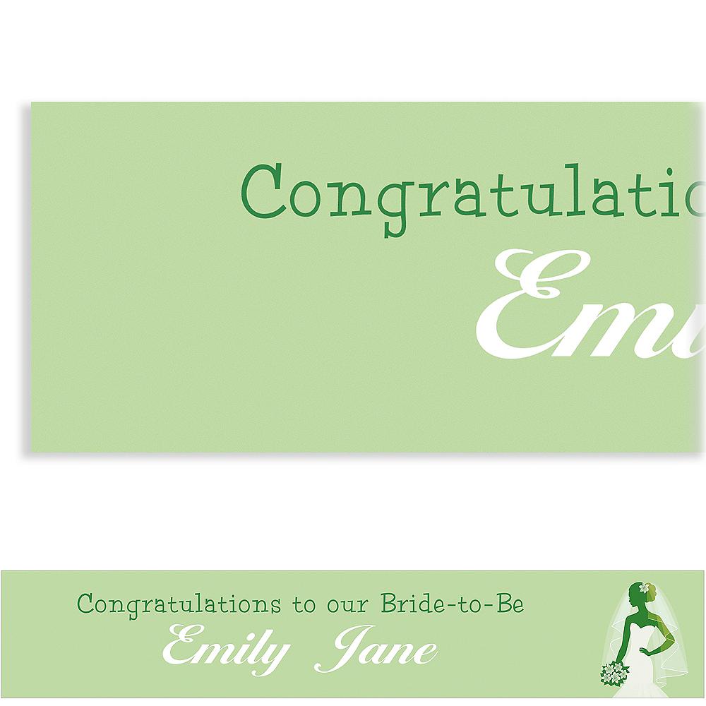 Custom Green Bride Silhouette Banner Image #1