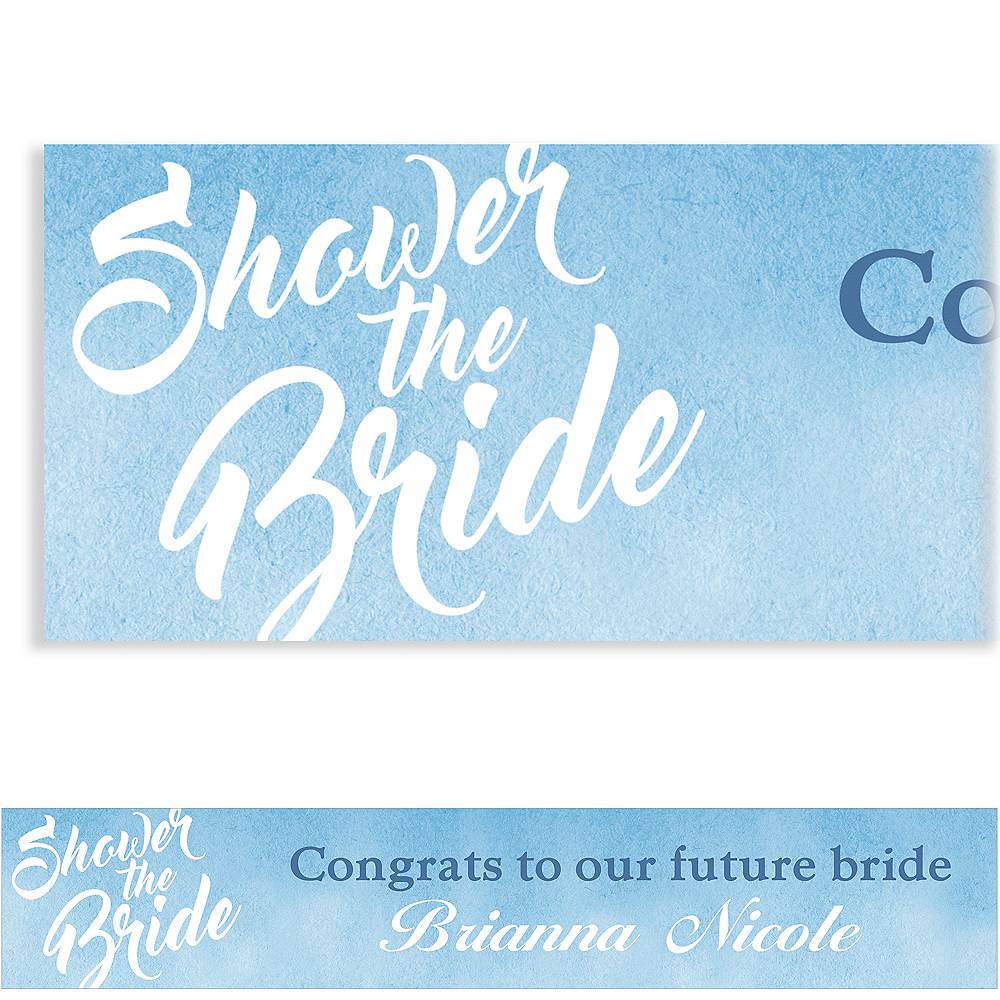 Custom Periwinkle Shower the Bride Banner Image #1