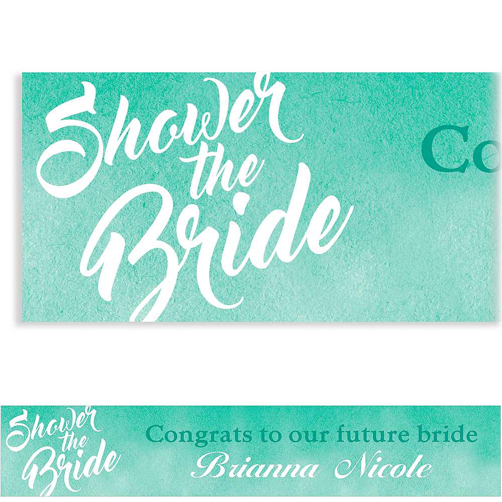 Custom Mint Shower the Bride Banner Image #1