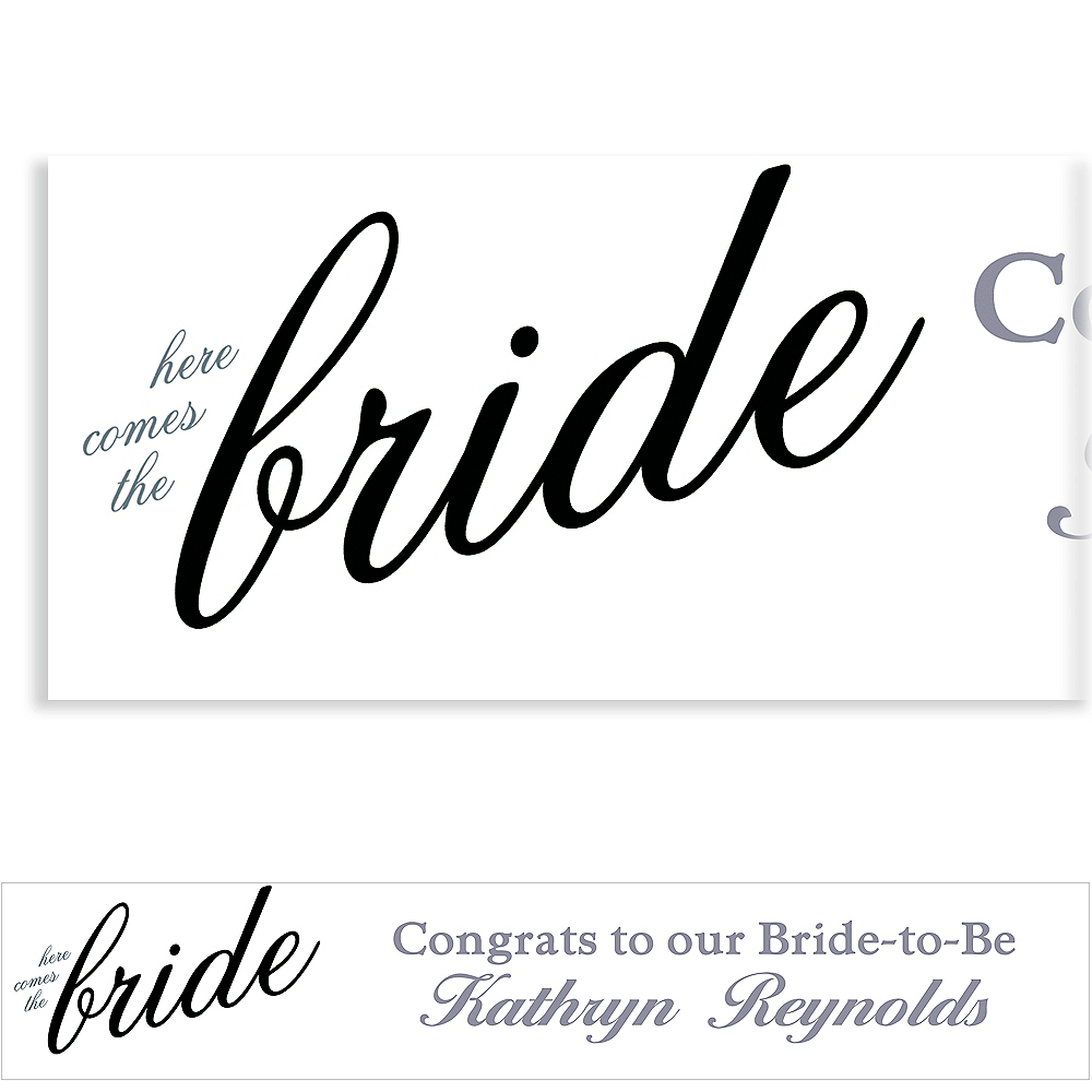Custom Onyx Here Comes the Bride Banner Image #1