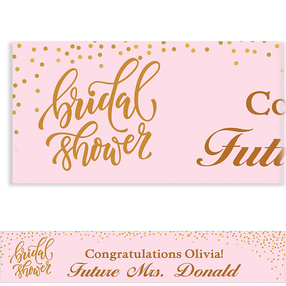 Custom Sparkling Bridal Shower Banner Image #1