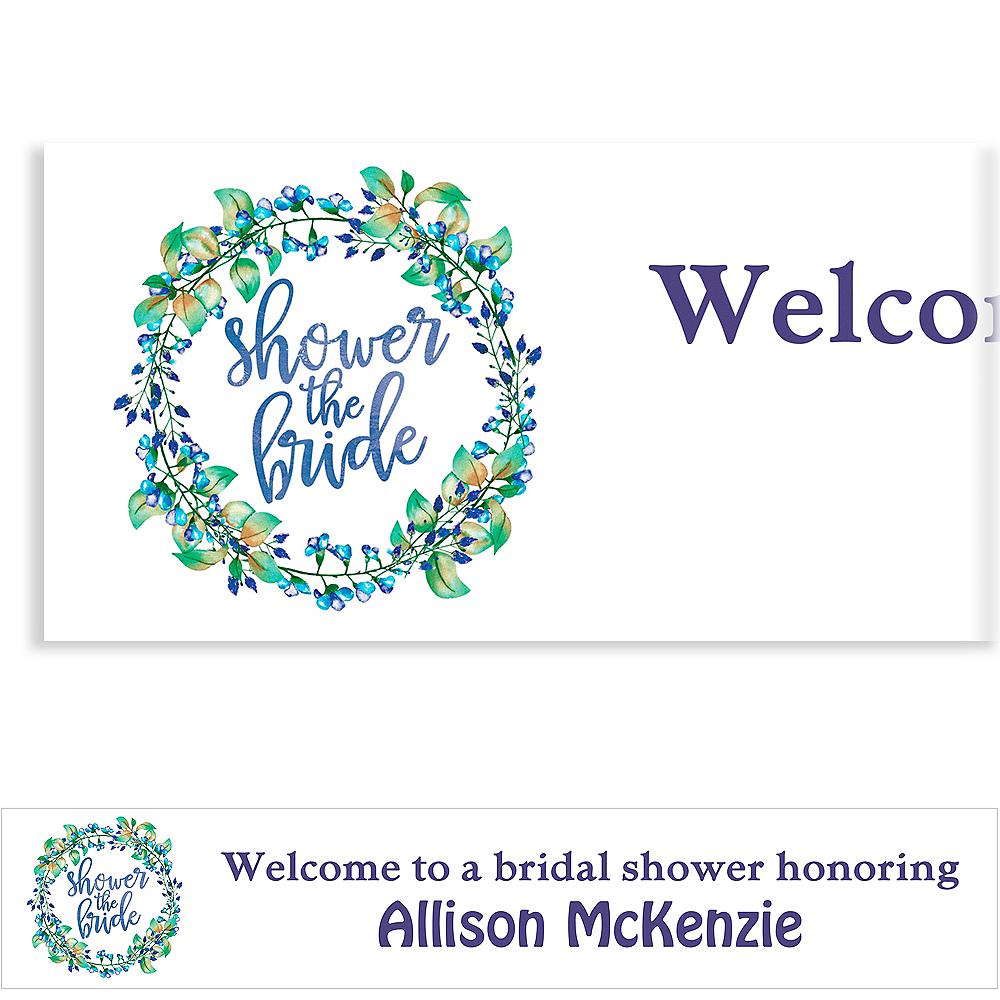 Custom Floral Wreath Shower the Bride Banner Image #1
