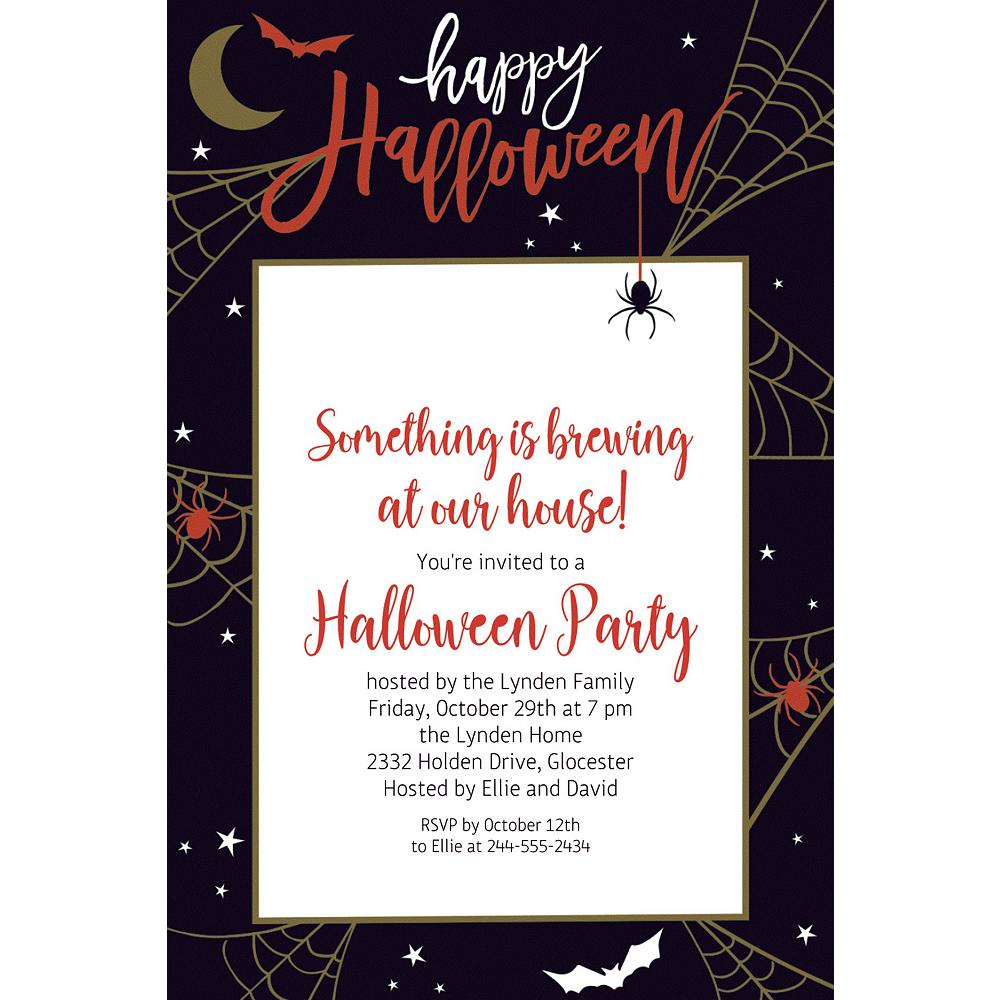 Custom Wicked Web Halloween Invitations Image #1
