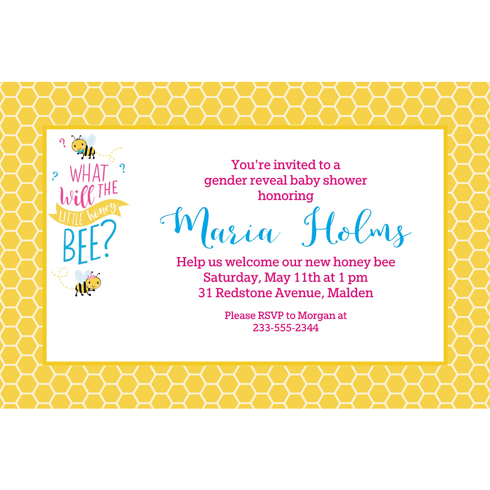 custom what will it bee invitations party city
