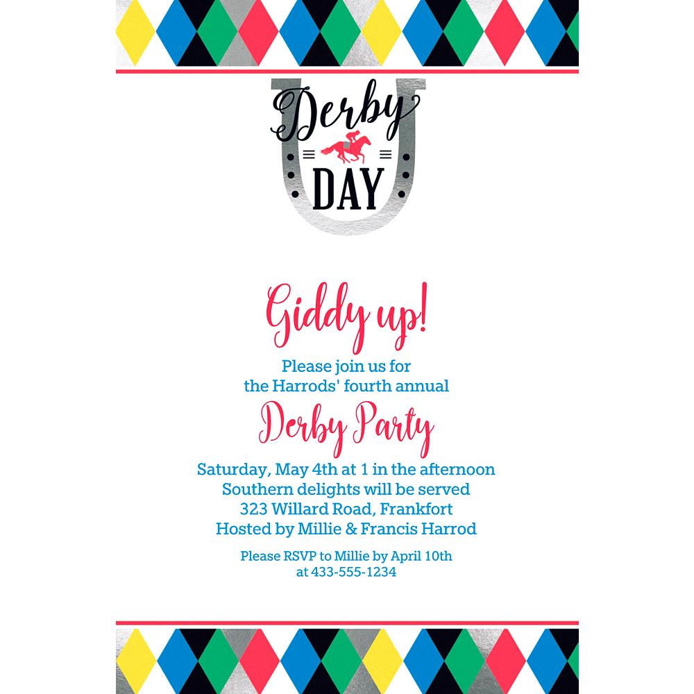 Custom Derby Day Invitation Image #1
