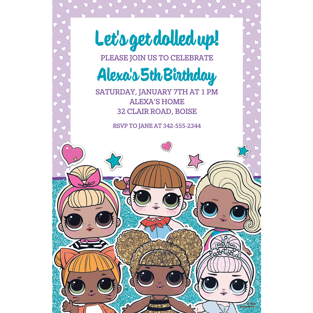 Custom LOL Surprise Invitations