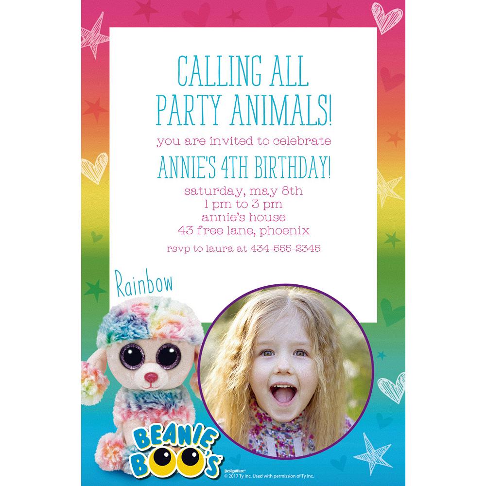 Custom Beanie Boos Photo Invitations Image #1