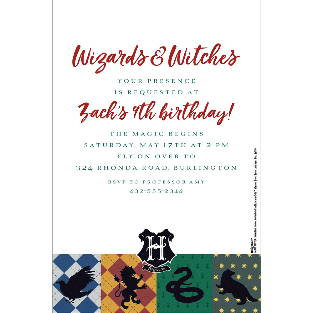 Custom Harry Potter Invitations | Party City