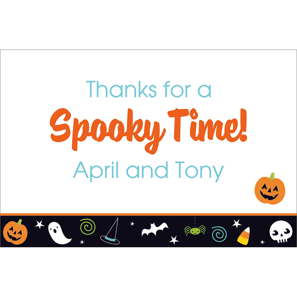 Custom Friendly Halloween Thank You Notes Image #1