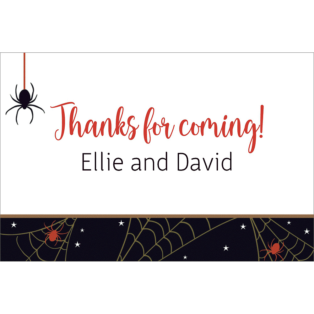 Custom Wicked Web Halloween Thank You Notes Image #1