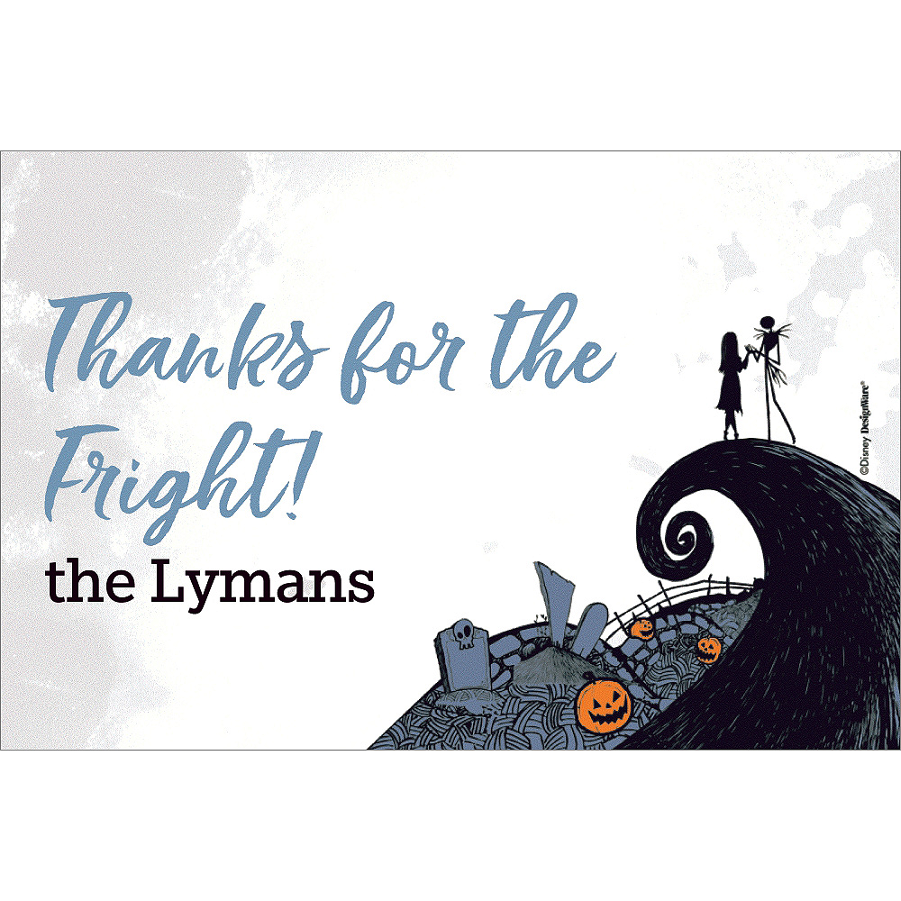 Custom Nightmare Before Christmas Thank You Notes Image #1