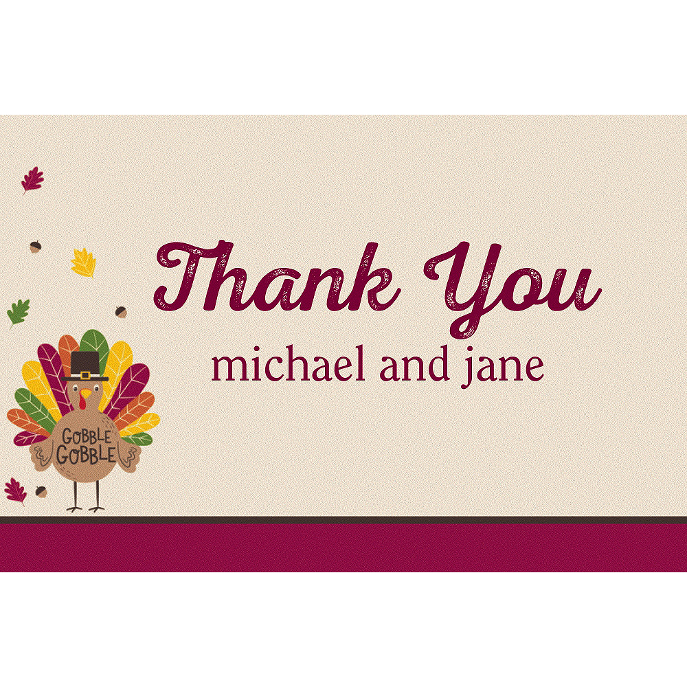 Custom Gobble Gobble Thank You Notes Image #1