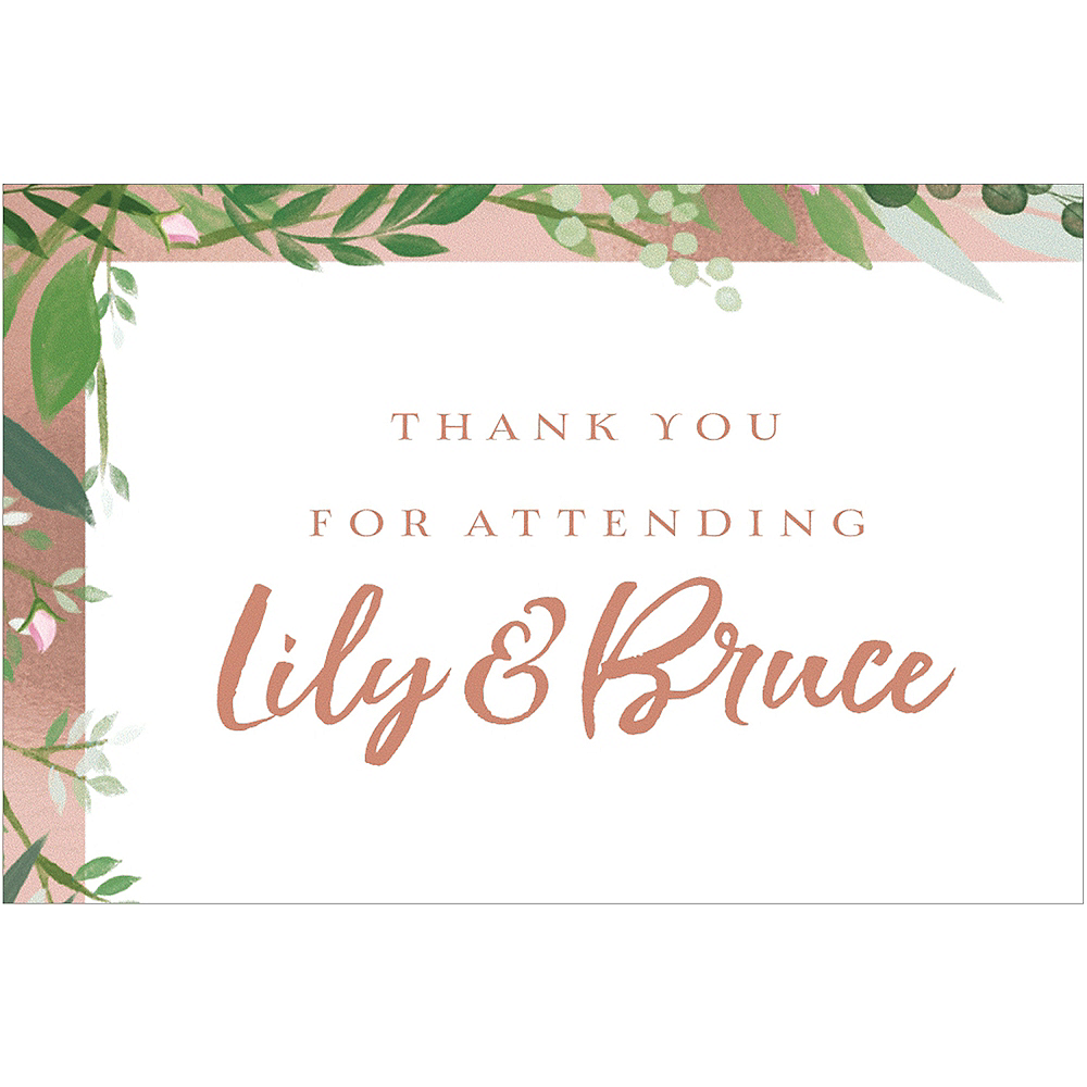 Custom Tropical Wedding Thank You Notes  Image #1