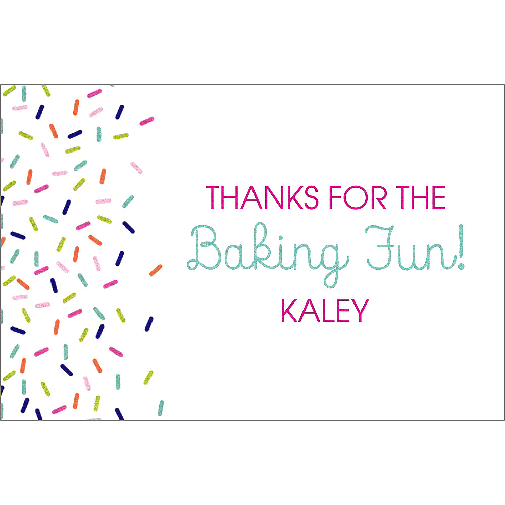 Custom Colorful Sprinkles Thank You Notes Image #1