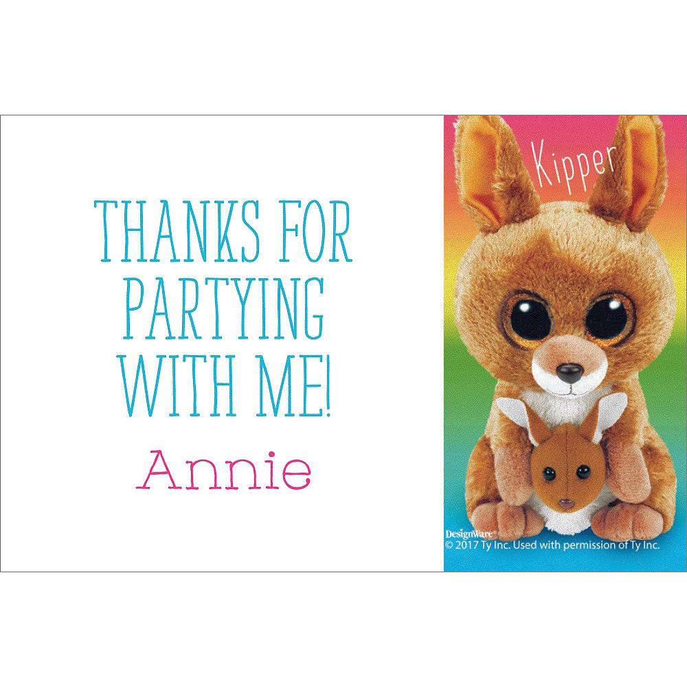 Custom Beanie Boos Thank You Notes Image #1