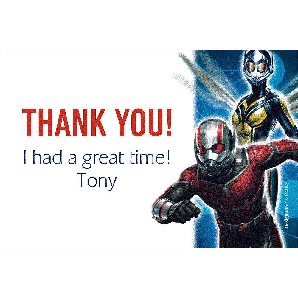 Nav Item for Custom Antman Thank You Notes Image #1