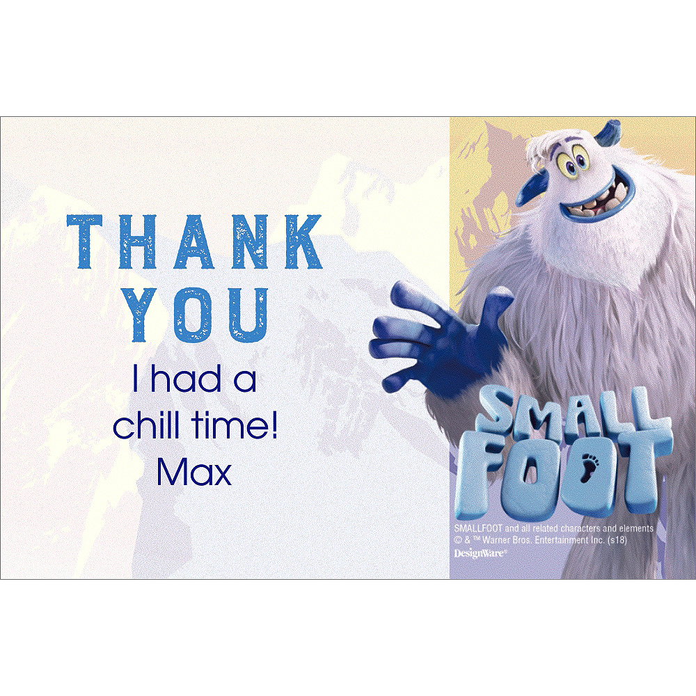 Custom Smallfoot Thank You Notes Image #1