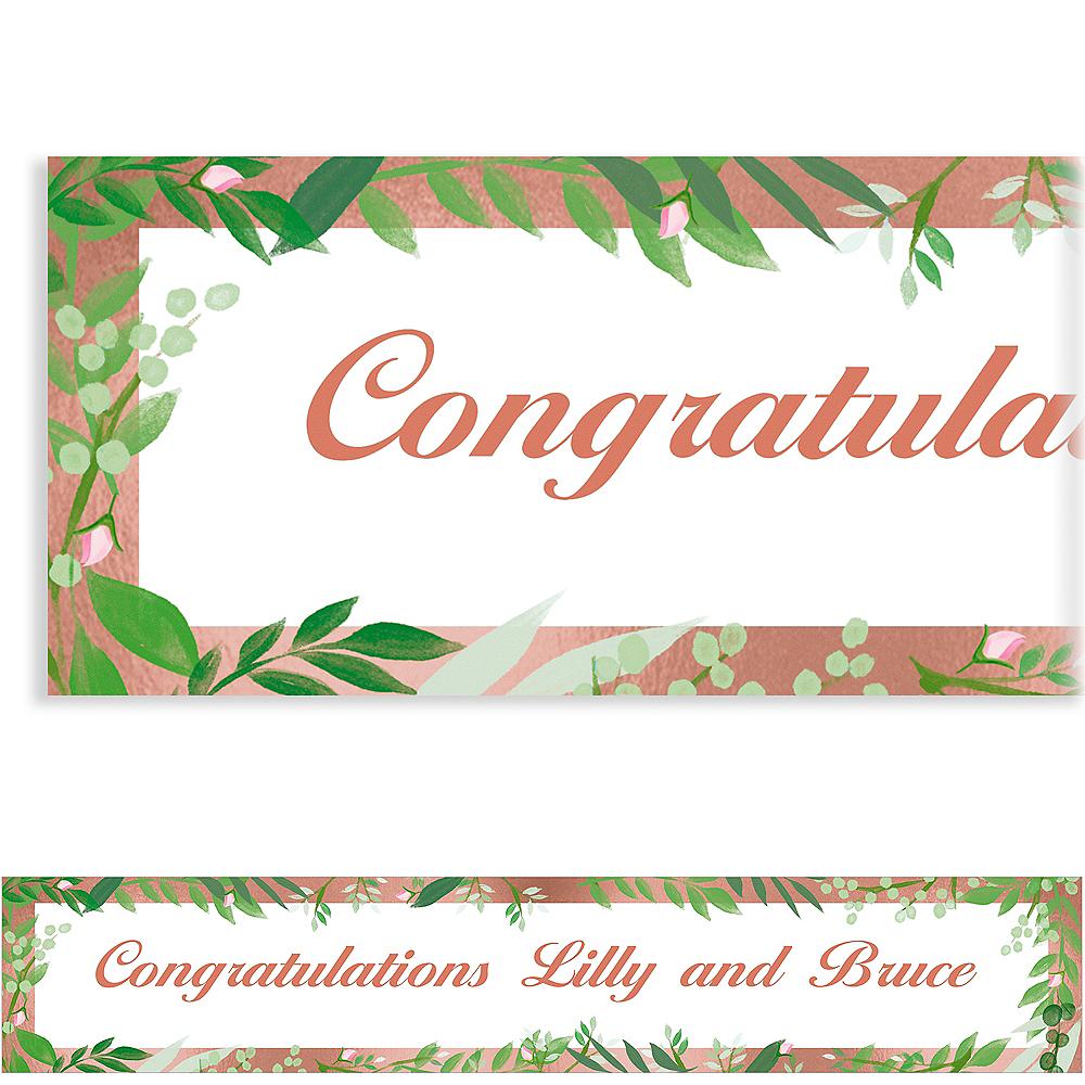 Custom Tropical Wedding Banner Image #1