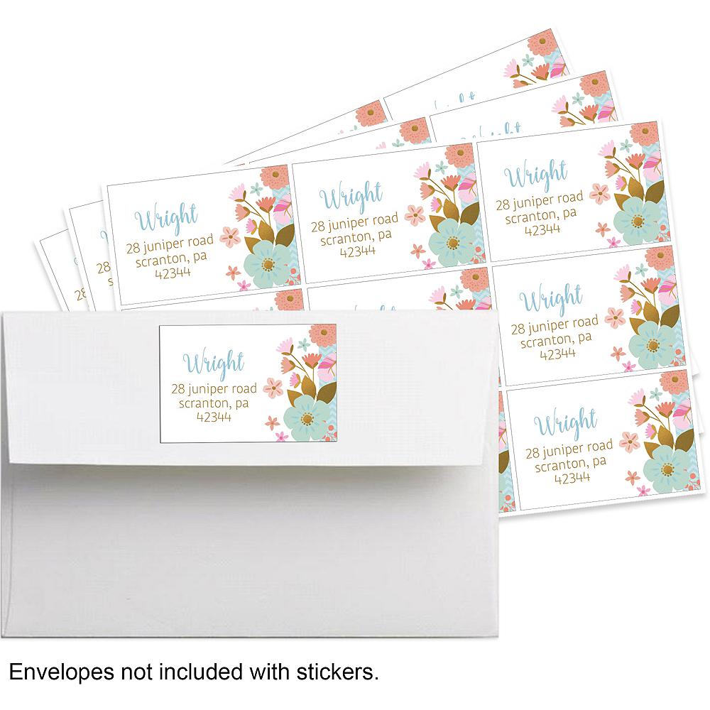 Custom Boho Floral Stickers Image #1