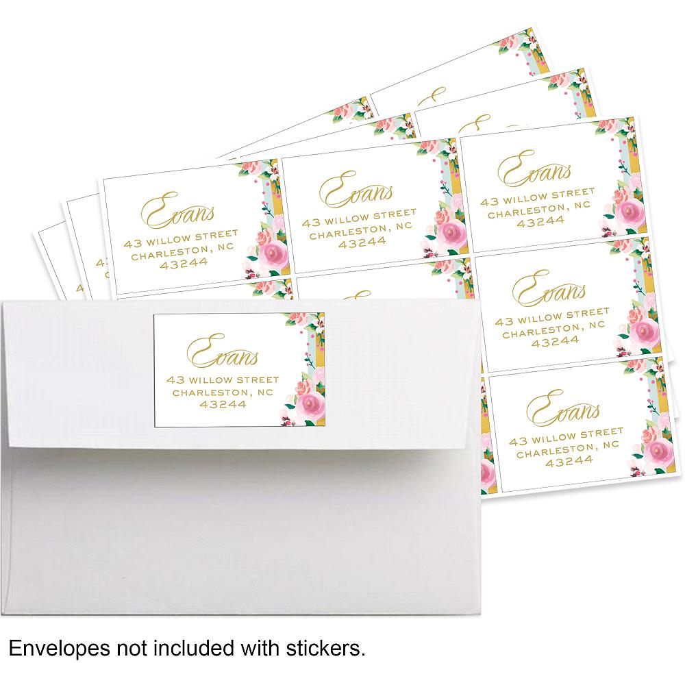 Custom Golden Floral Stickers Image #1