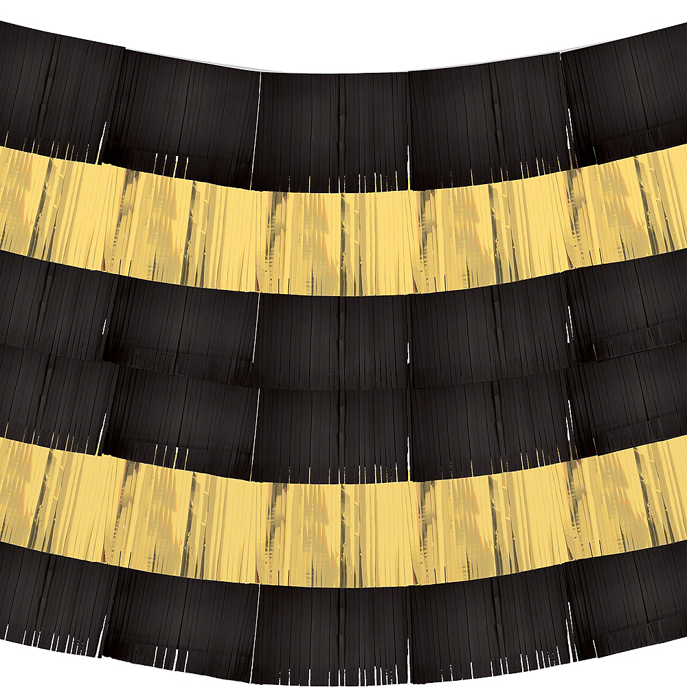 Black & Gold Fringe Banners 9ct Image #2