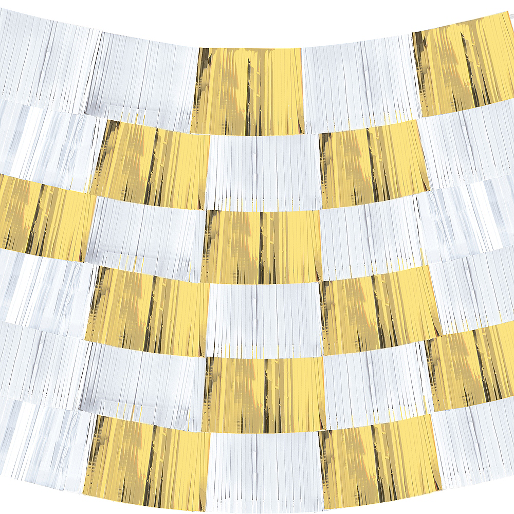 Gold & White Fringe Banners 9ct Image #2
