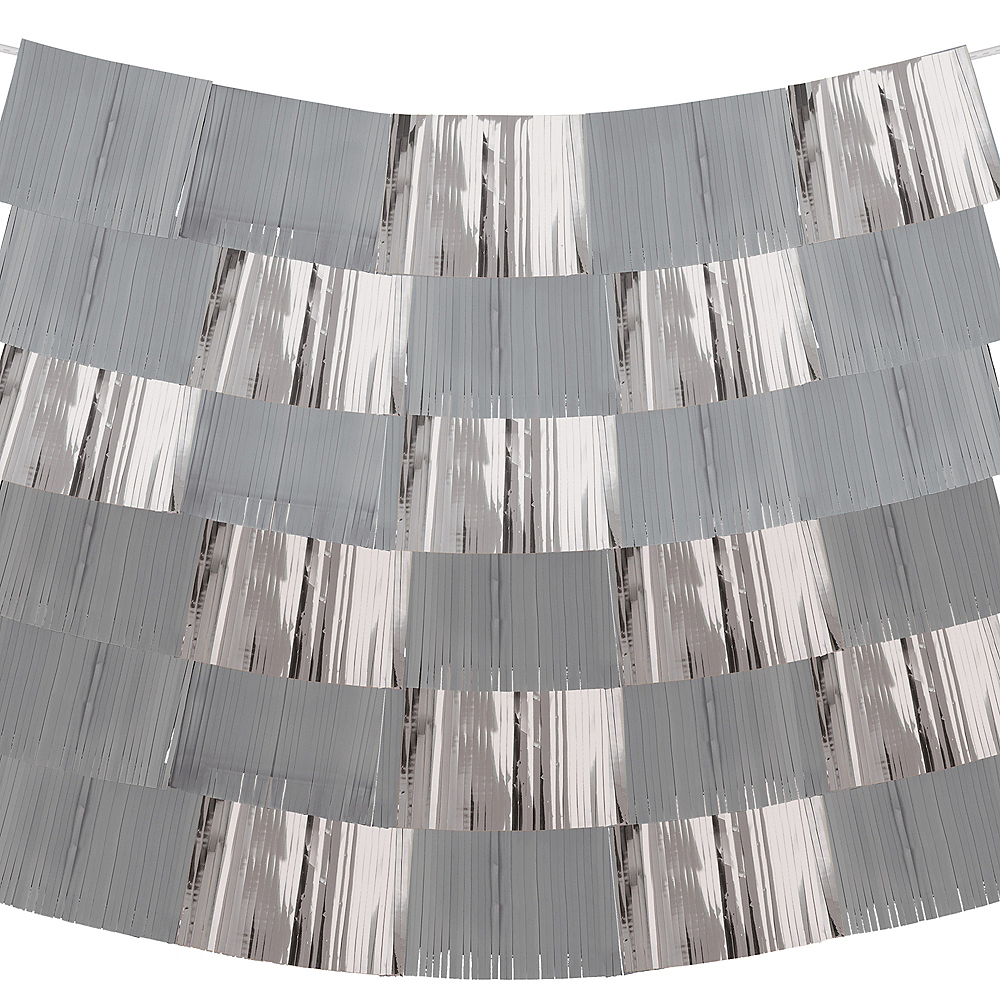 Gray & Silver Fringe Banners 9ct Image #2
