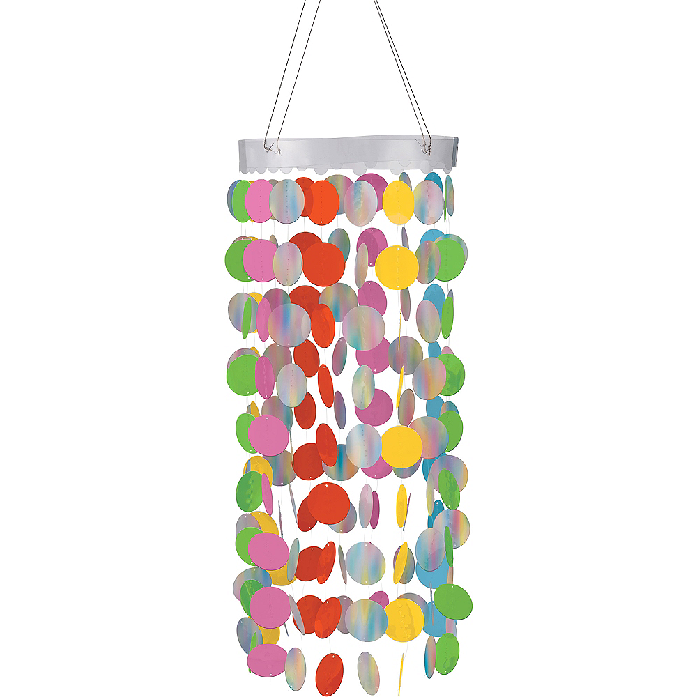 Multi-Colored Circle Chandelier Image #1