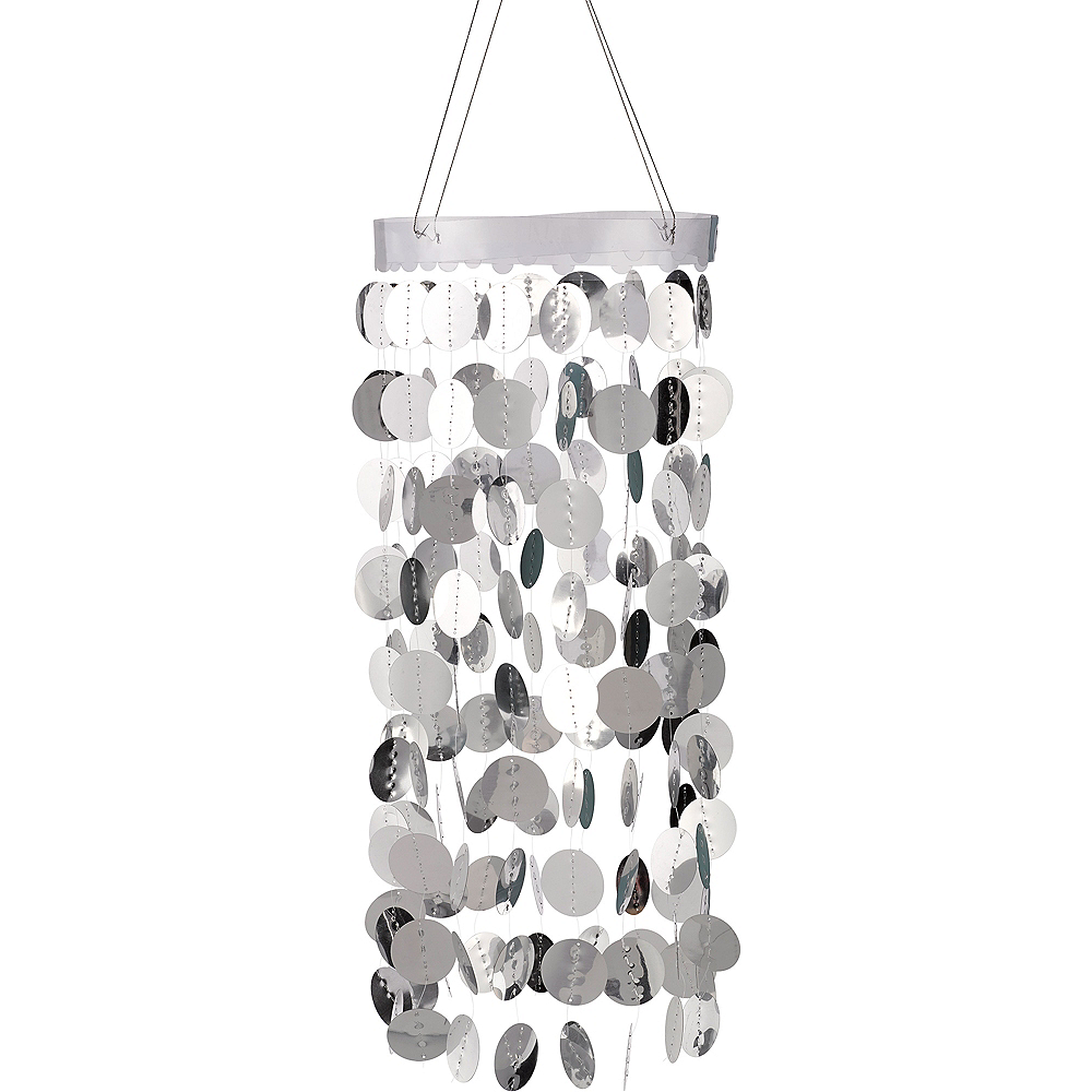 Silver Circle Chandelier Image #1