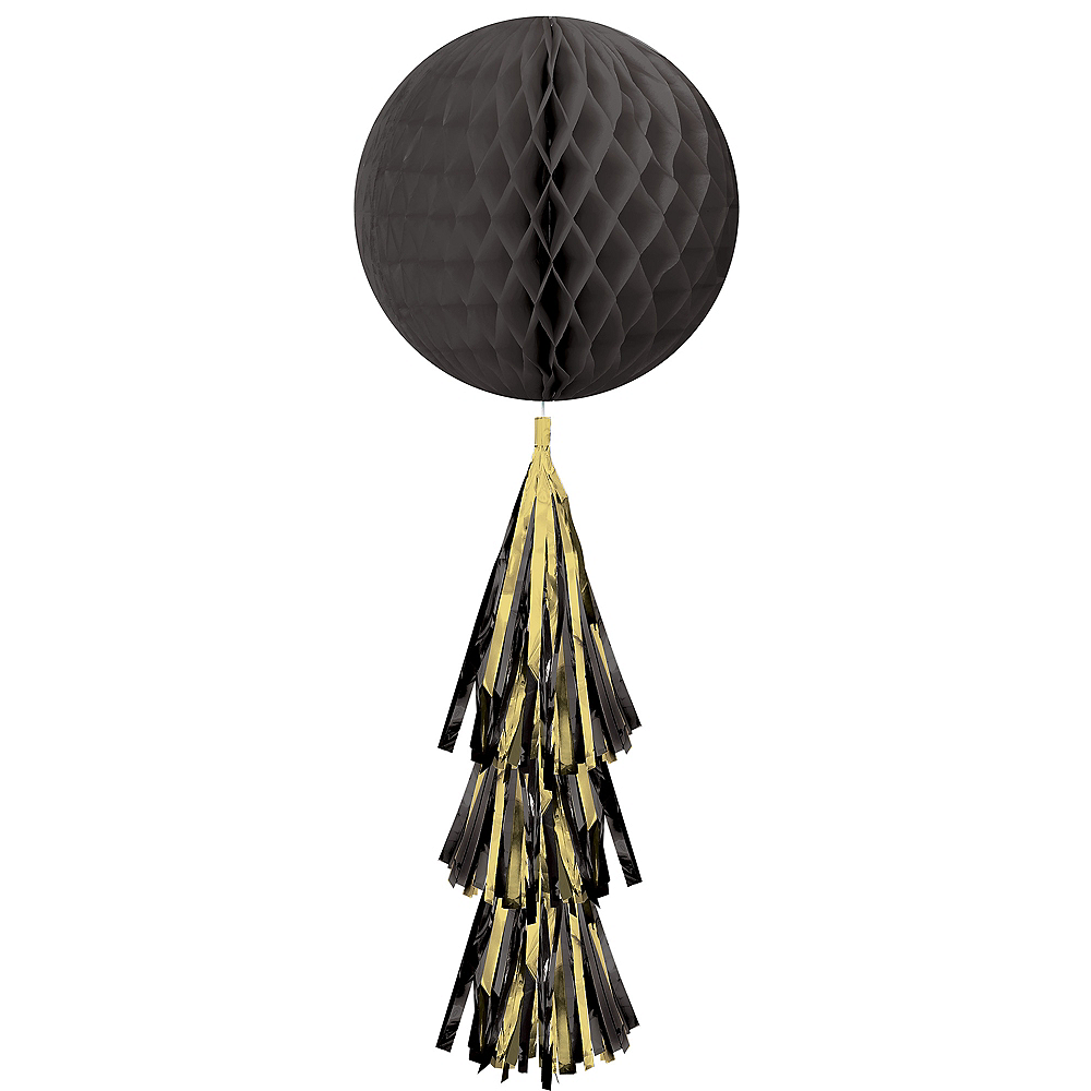 Black Honeycomb Ball with Tail Image #1