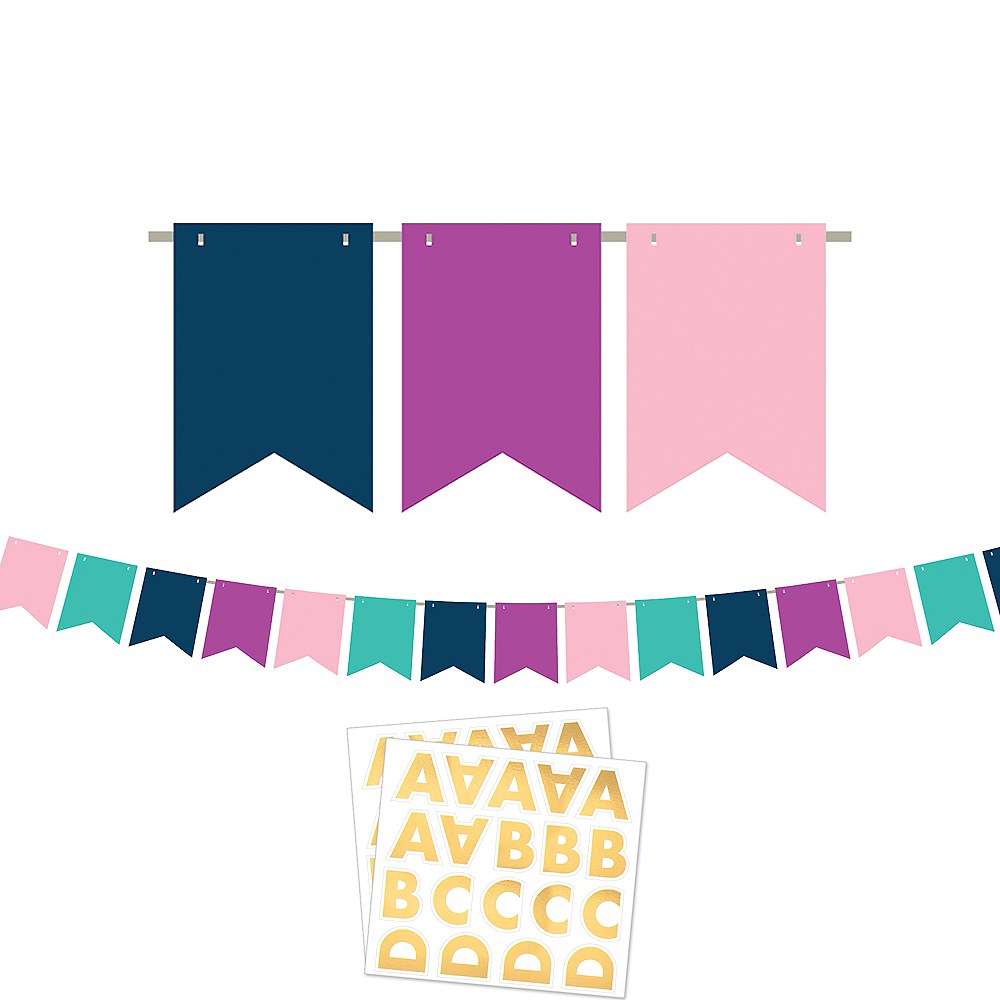 Customizable Sign of the Times Pennant Banner Kit Image #1