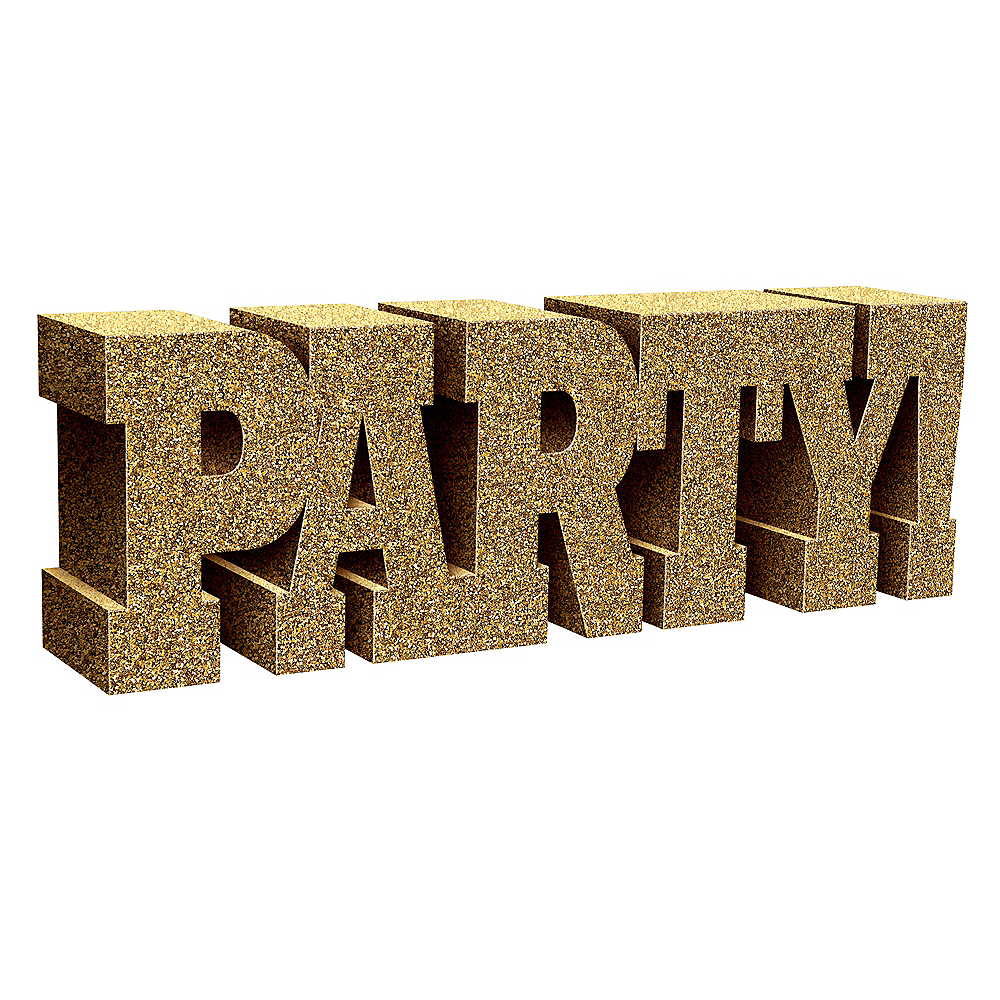 Glitter Gold Party! Sign Image #1