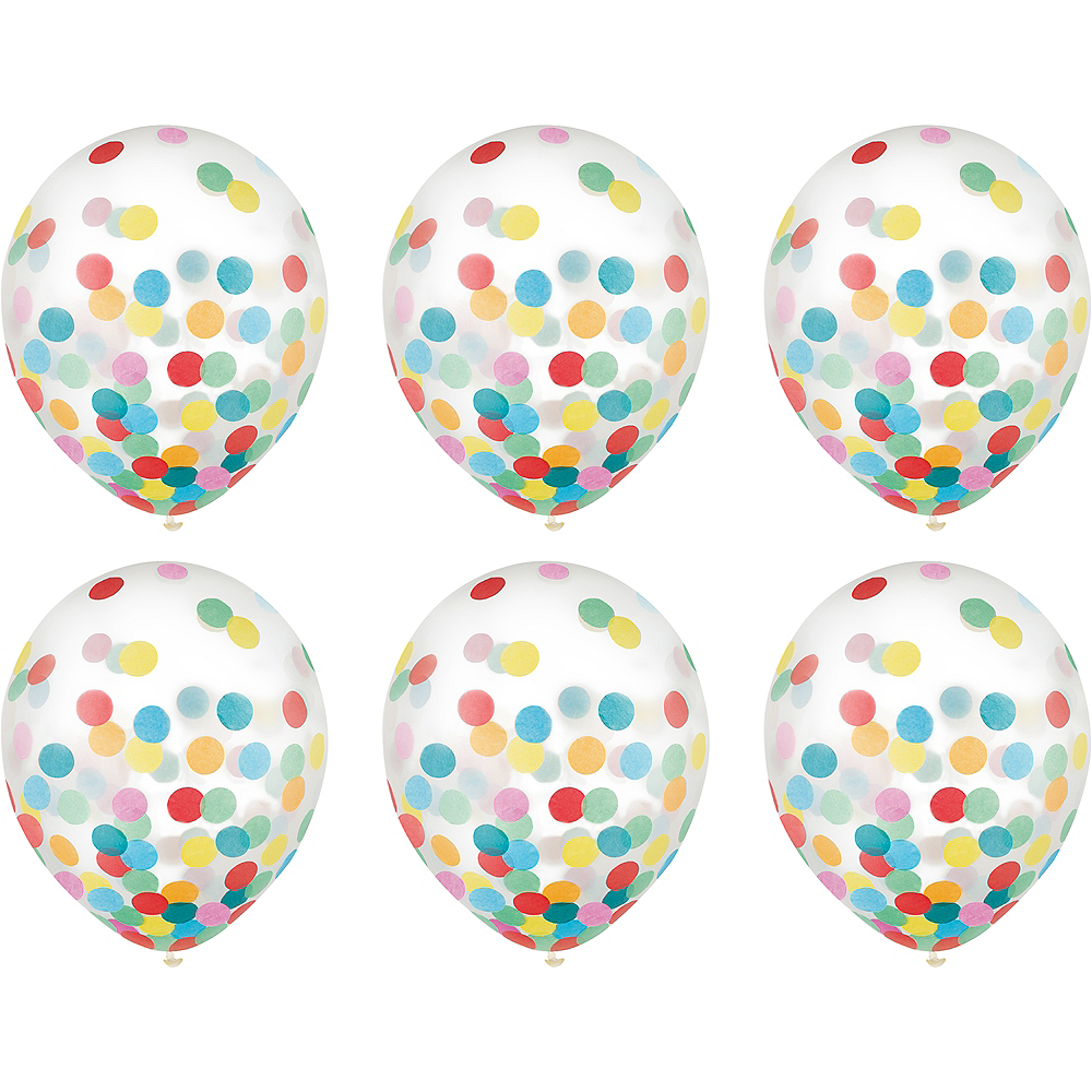Nav Item for Multicolor Confetti Balloons 6ct, 12in Image #2