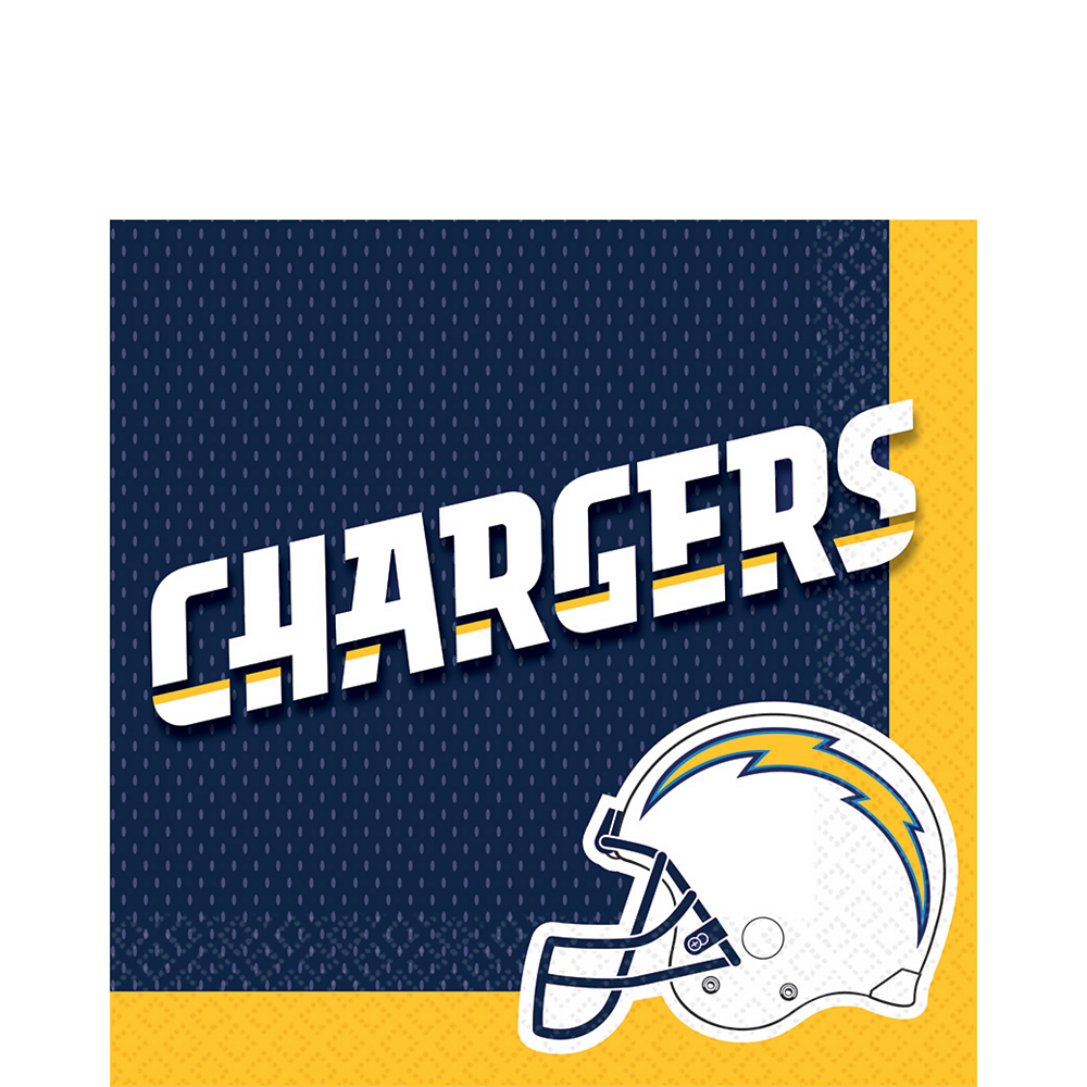 Los Angeles Chargers Lunch Napkins 36ct Image #1