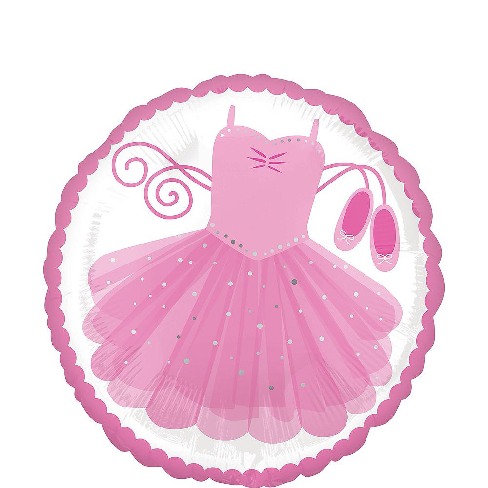 Pink Tutu Balloon, 17in Image #1